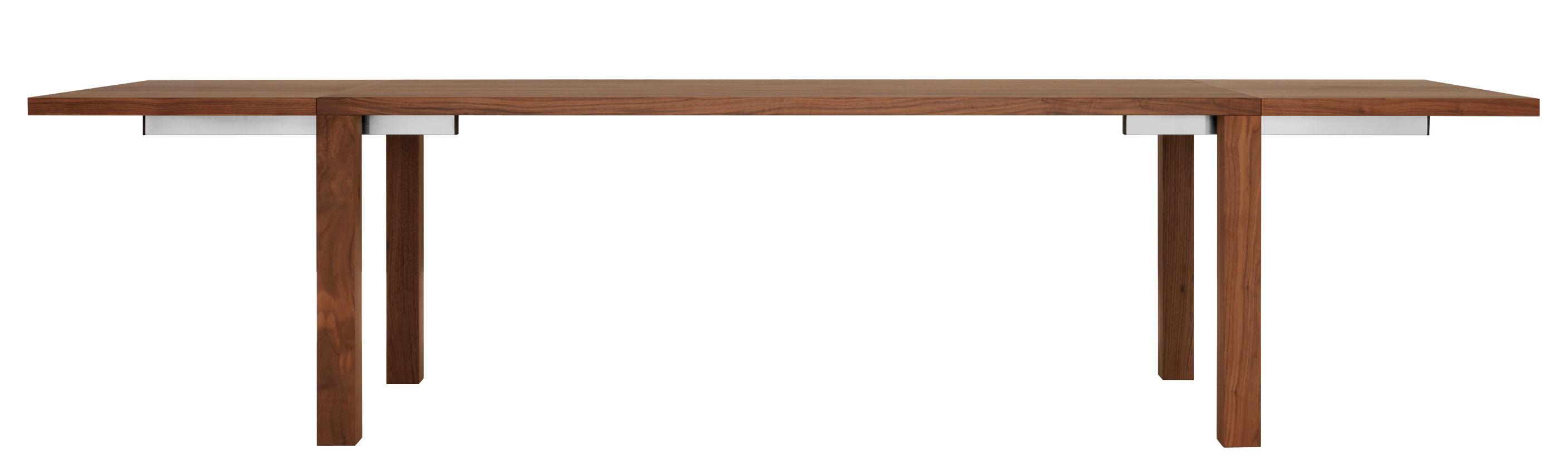 Mobilier - Tables - Table à rallonge Pjur / L 180 à 300 cm - Zeitraum - Noyer Americain - Noyer massif