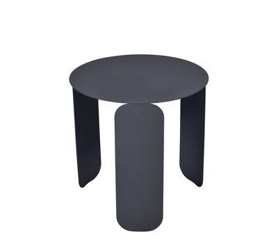 Mobilier - Tables basses - Table basse Bebop / Ø 45 x H 45 cm - Fermob - Carbone - Acier, Aluminium