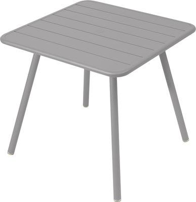 Table Luxembourg / 80 x 80 cm - 4 pieds - Fermob gris métal en métal
