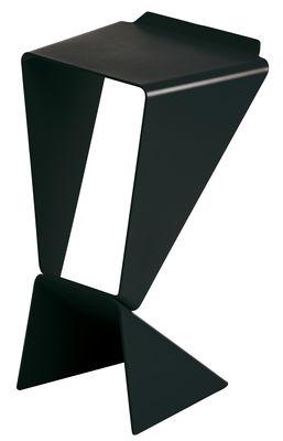 Mobilier - Tabourets de bar - Tabouret de bar Icon / H 74 cm - Métal - B-LINE - Noir - Aluminium verni