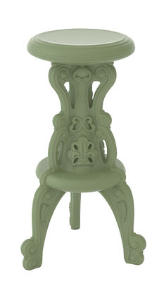 Mobilier - Tabourets de bar - Tabouret haut Mister of Love / H 75 cm - Plastique - Design of Love by Slide - Vert argile - Polyéthylène