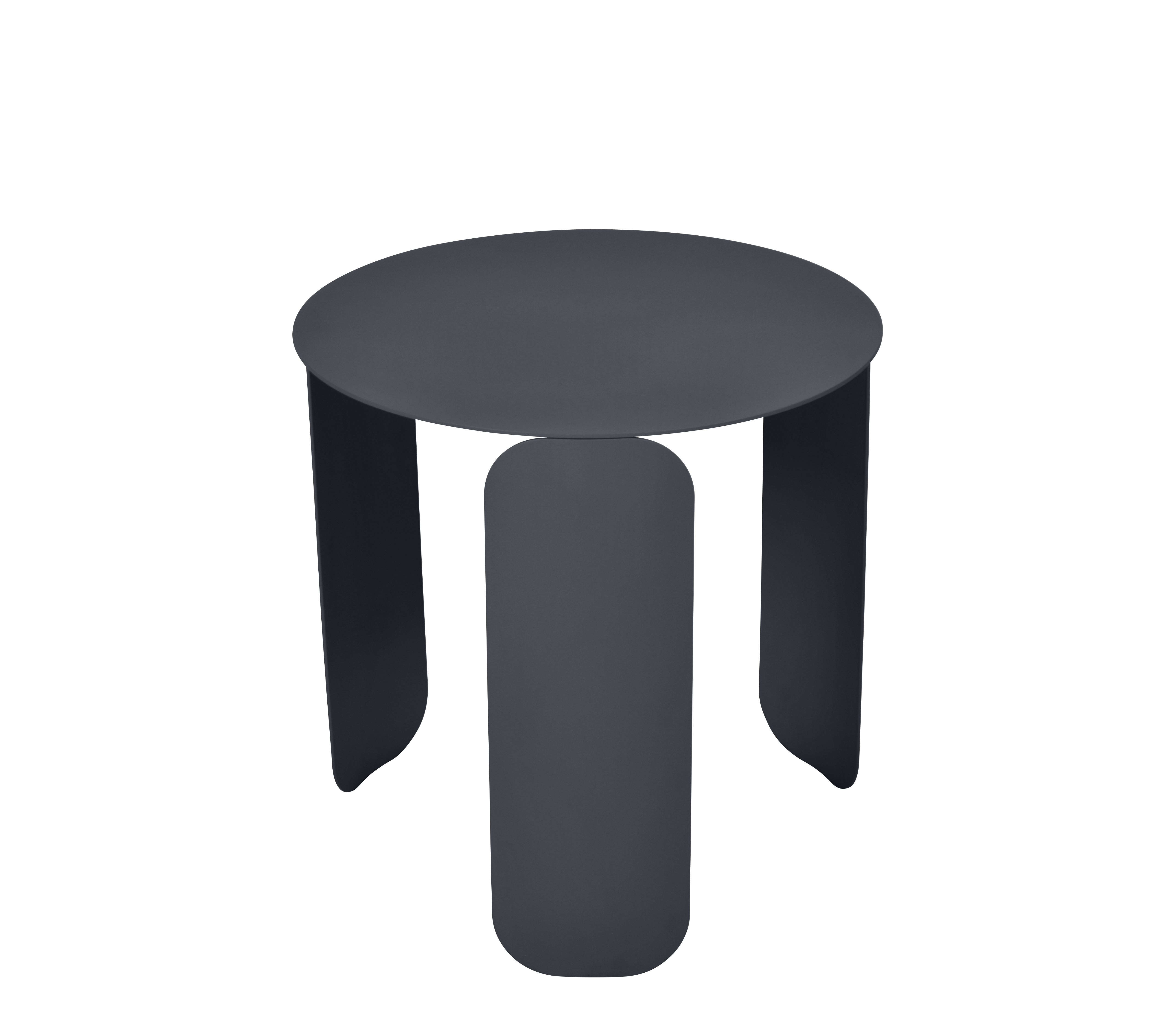 Arredamento - Tavolini  - Tavolino Bebop - / Ø 45 cm di Fermob - Carbone - Acciaio, Alluminio
