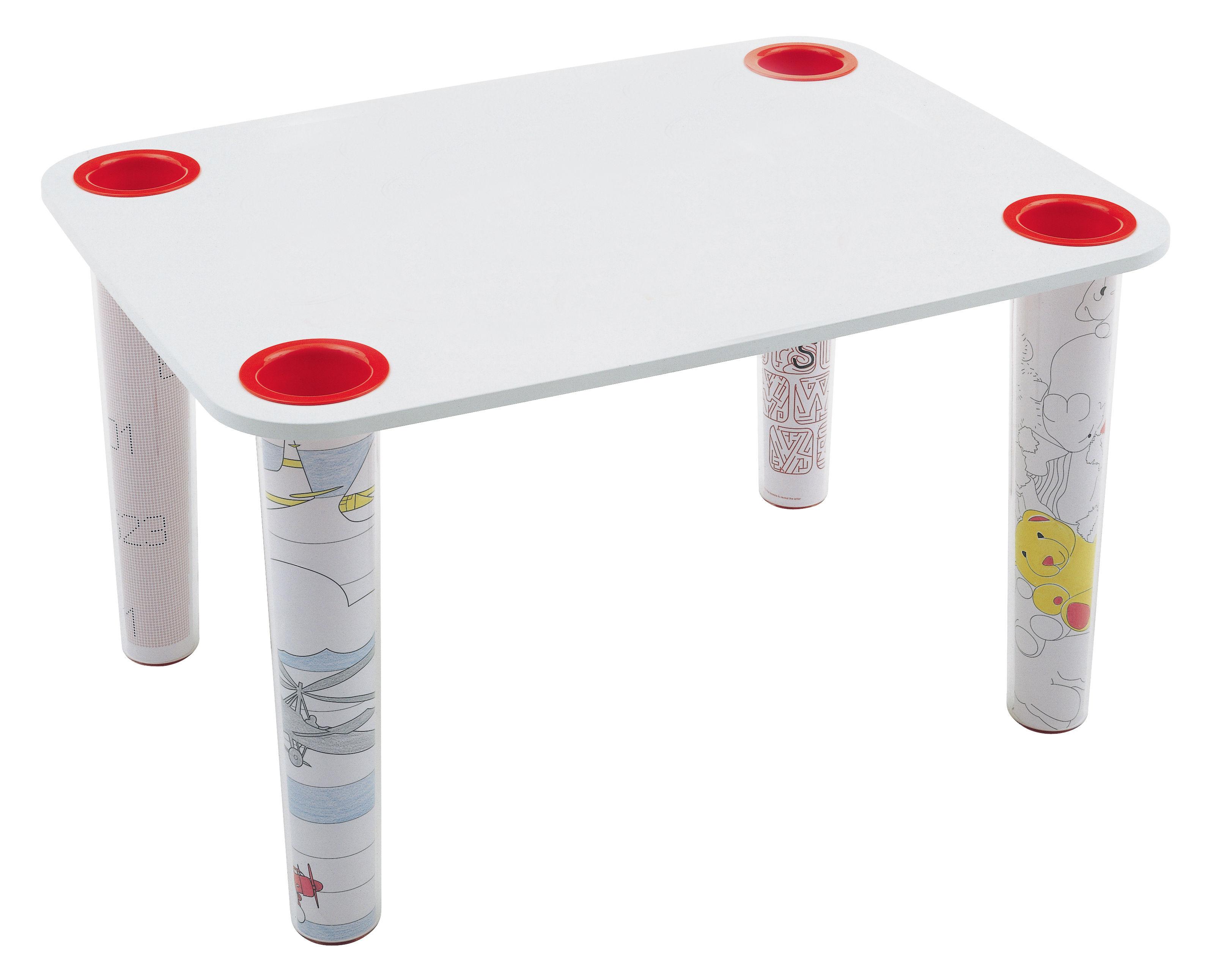 Arredamento - Mobili per bambini - Accessorio tavolo - Per tavolo Little Flare di Magis Collection Me Too - Piano bianco - MDF finitura polimero