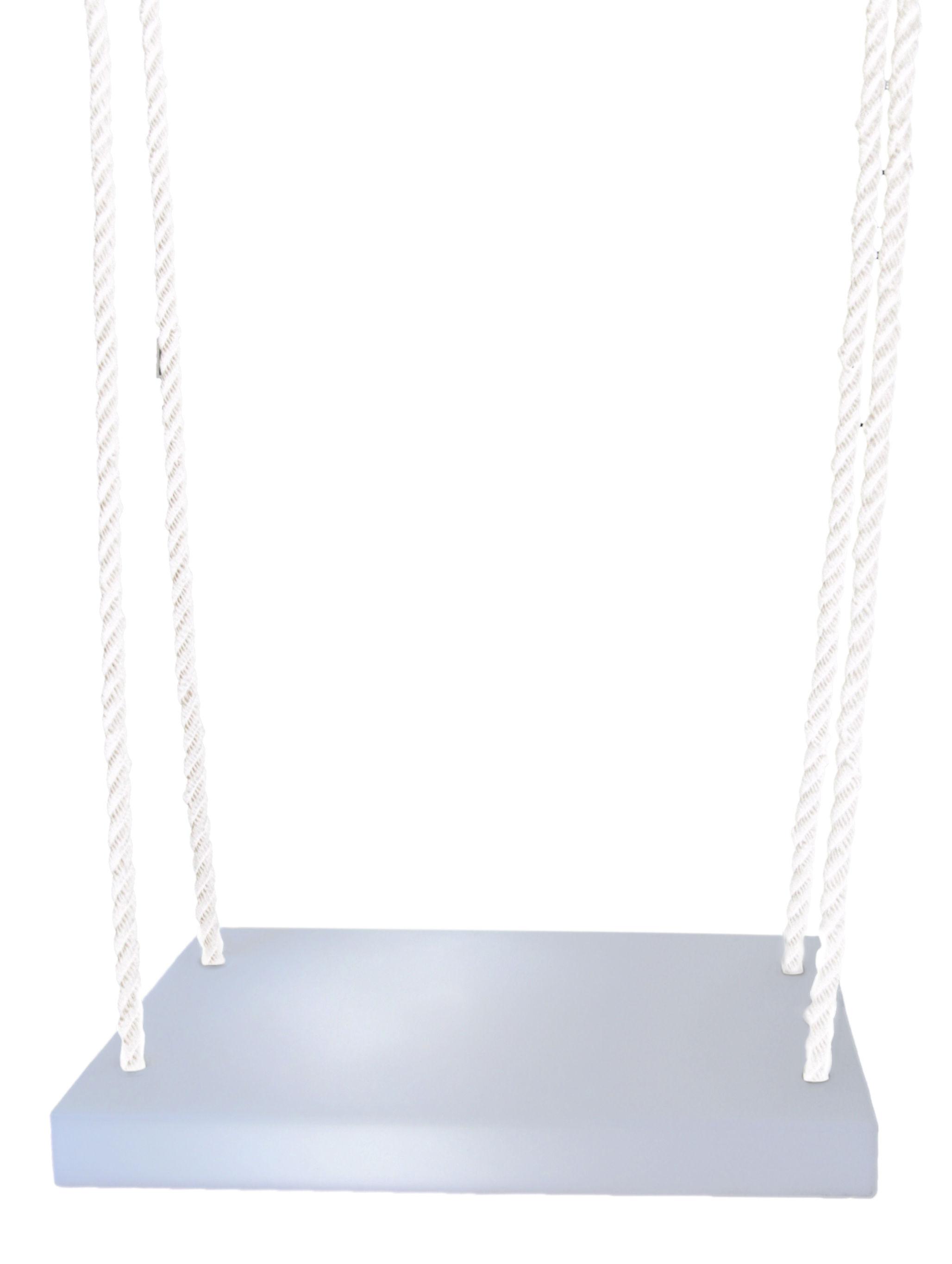 Outdoor - Decorazioni e accessori - Altalena Altalena di Slide - Bianco / Corda bianca - Nylon, Polietilene