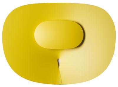 Applique d'extérieur Séléné LED  / Horizontale 50 x 65 cm - Roger Pradier jaune en métal