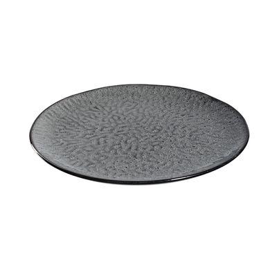 Arts de la table - Assiettes - Assiette Matera / Grès - Ø 27 cm - Leonardo - Anthracite - Grès émaillé