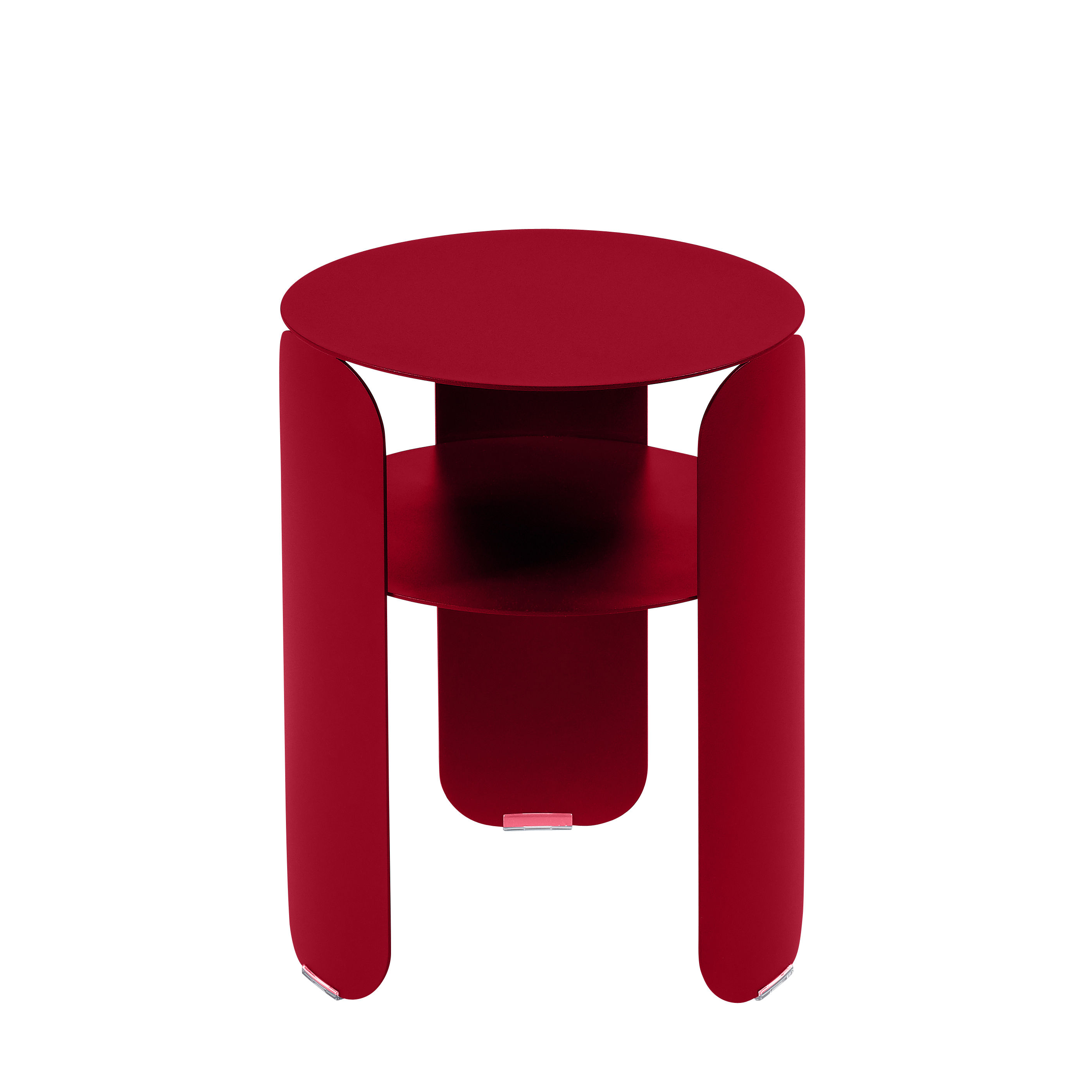 Möbel - Couchtische - Bebop Beistelltisch / Ø 35 x H 45 cm - Fermob - Chili - bemaltes Aluminium