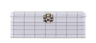 Boîte Lunch box / Graph 03 - House Doctor blanc,gris en métal
