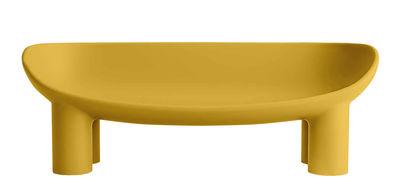 Canapé droit Roly Poly L 175 cm 3 places Driade ocre en matière plastique