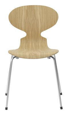 Mobilier - Chaises, fauteuils de salle à manger - Chaise empilable Fourmi / Bois naturel - Fritz Hansen - Chêne - Acier, Contreplaqué de chêne verni