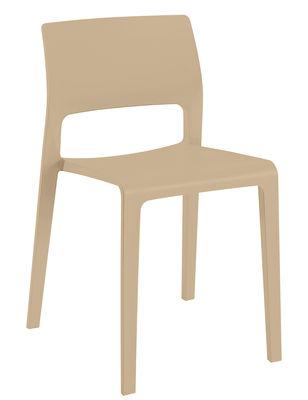 Chaise empilable Juno / Polyproplylène - Arper sable en matière plastique