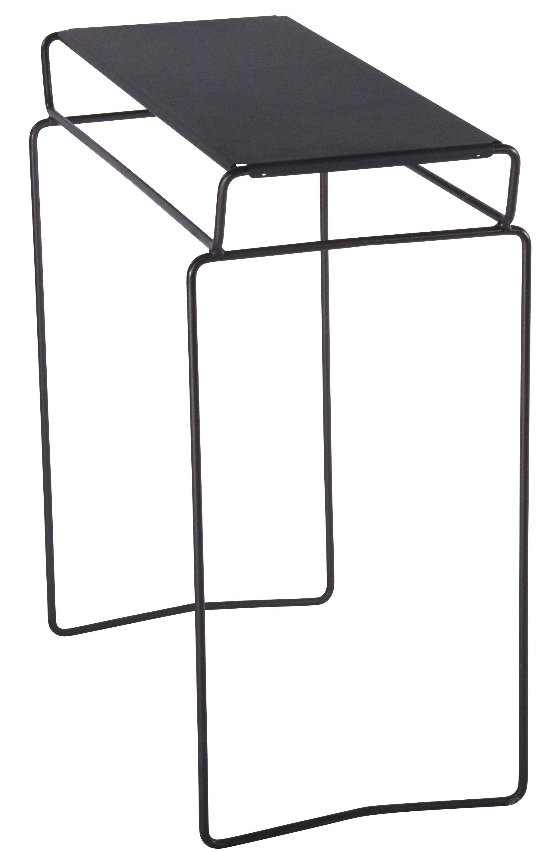 Mobilier - Consoles - Console Fil / L 70 cm - AA-New Design - Plateau Noir / Structure Noire - Acier laqué époxy