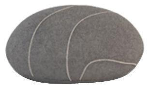 Arredamento - Mobili Ados  - Cuscino Pierre Livingstones - Versione in lana da interno di Smarin - Grigio scuro - 30 x 27 cm / H 19 cm - Fibre poli-siliconate, Lana