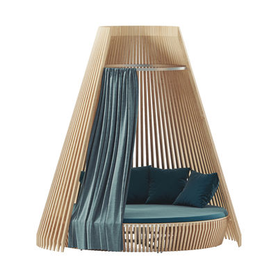 Decoration - Cushions & Poufs - Cushion - / For Hut round sofa - Ø 270 cm by Ethimo - Charron Blue (acrylic) - Acrylic fabric