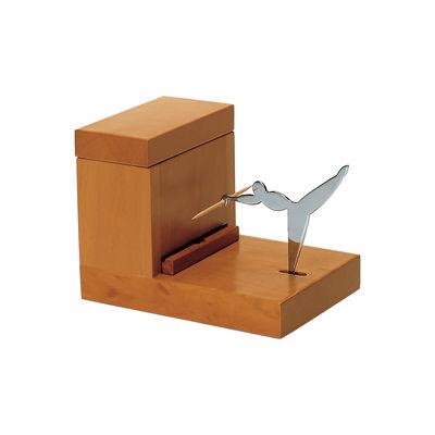 Arts de la table - Accessoires - Distributeur de cure-dents / Alessi 100 Values Collection - Alessi - Bois & acier - Acier, Poirier
