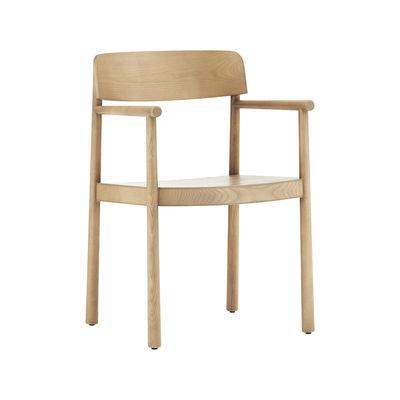 Mobilier - Chaises, fauteuils de salle à manger - Fauteuil Timb / Bois - Normann Copenhagen - Naturel - Contreplaqué de frêne, Frêne massif