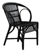 Chaise Wengler Réédition 1902 Sika Design noir en fibre végétale