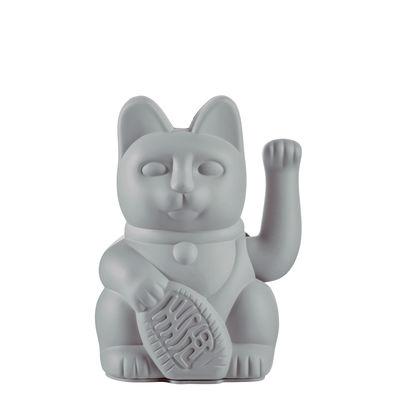 Image of Figurina Lucky Cat - / Plastica di Donkey - Grigio - Materiale plastico