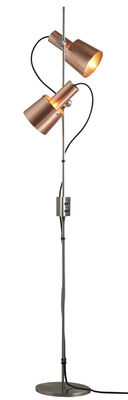 Lighting - Floor lamps - Chester Floor lamp - H 140 cm - 2 adjustable shades by Original BTC - Copper / Steel leg - Satined copper, Stainless steel