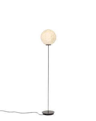 Lighting - Floor lamps - Light Light Floor lamp - / Washi Paper - H 140 cm by Established & Sons - White & black - Carbon, Metal, Washi paper