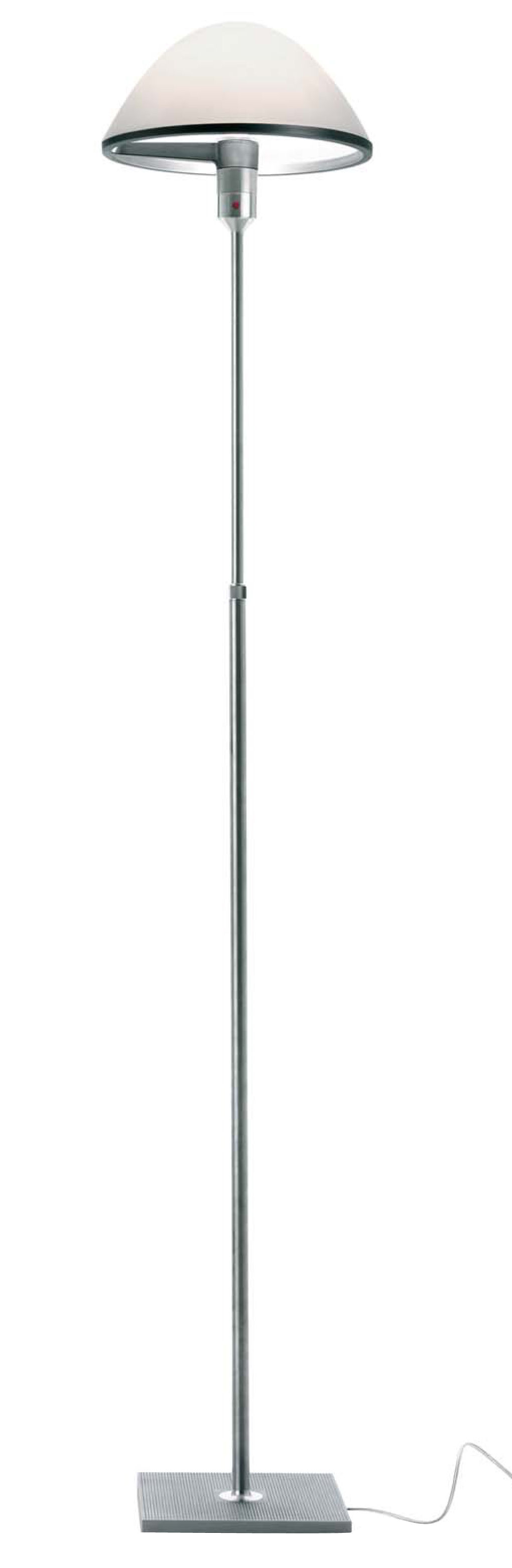 Lighting - Floor lamps - Miranda Floor lamp by Luceplan - Aluminium - White - Aluminium