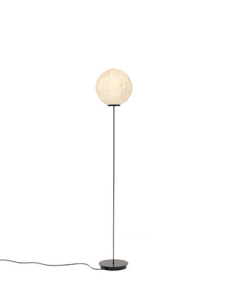 Lampadaire Light Light / Papier Washi - H 140 cm - Established & Sons noir,blanc cassé en métal