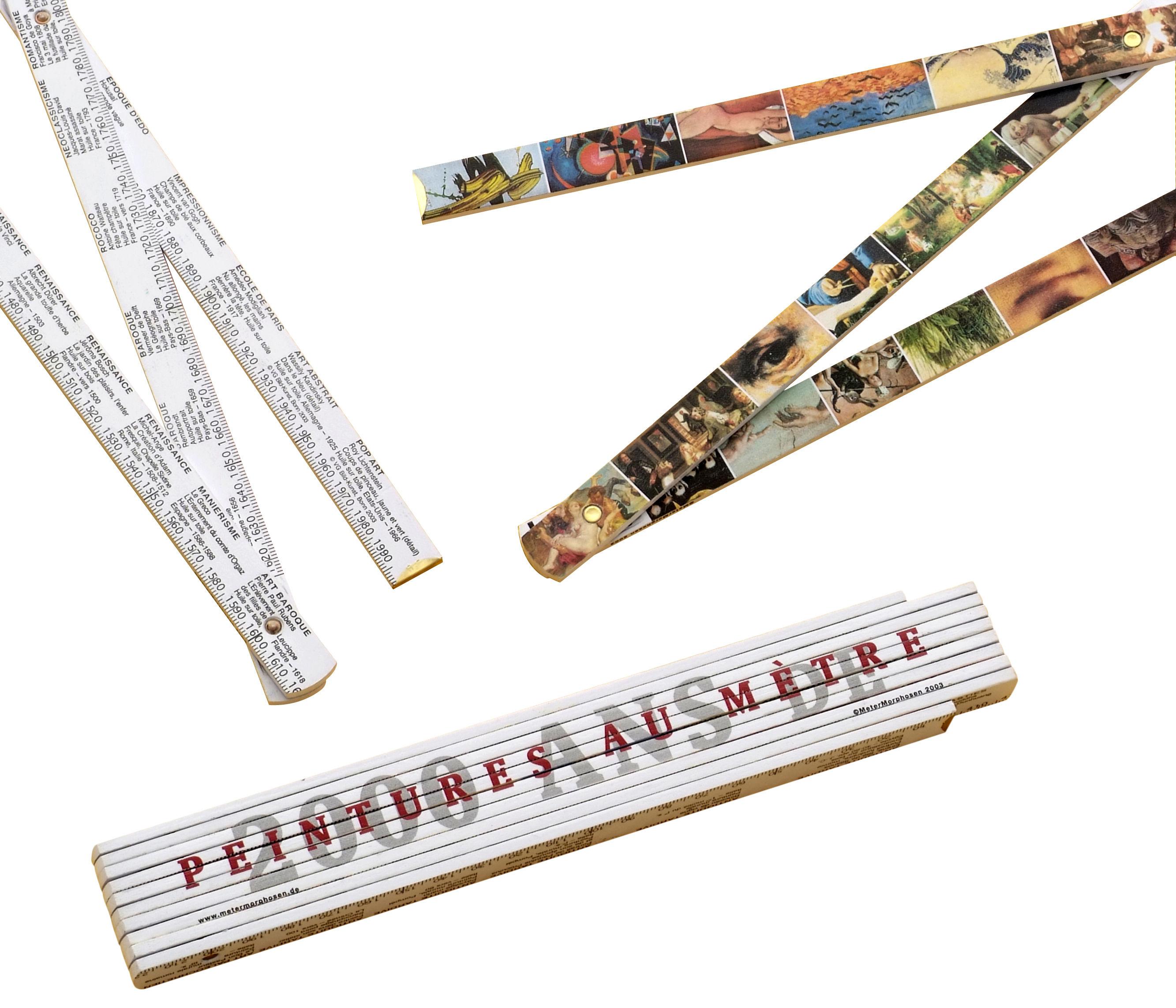 Decoration - Funny & surprising - Histoire de l'Art Metre by Pa Design - White - Wood