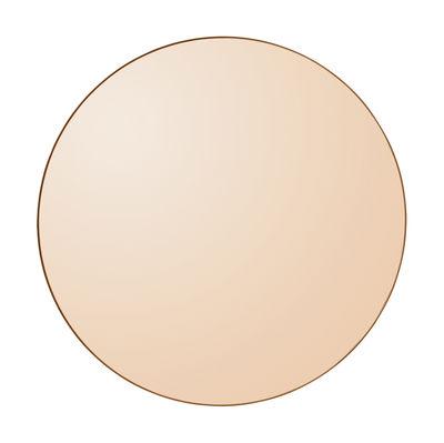 Déco - Miroirs - Miroir mural Circum Medium / Ø 90 cm - AYTM - Ambre / Cadre ambre - MDF peint, Verre