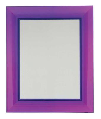 Miroir mural Francois Ghost / 65 x 79 cm - Kartell violet en matière plastique