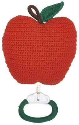 Mobile musical Apple en crochet - Anne-Claire Petit mandarine en tissu