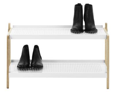 Arredamento - Raccoglitori - Mobile per scarpe Sko di Normann Copenhagen - Bianco - Acciaio verniciato, Frassino