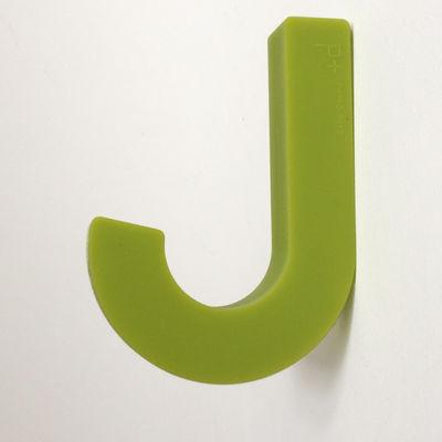 Mobilier - Portemanteaux, patères & portants - Patère Gumhook souple - Pa Design - Vert anis - Silicone