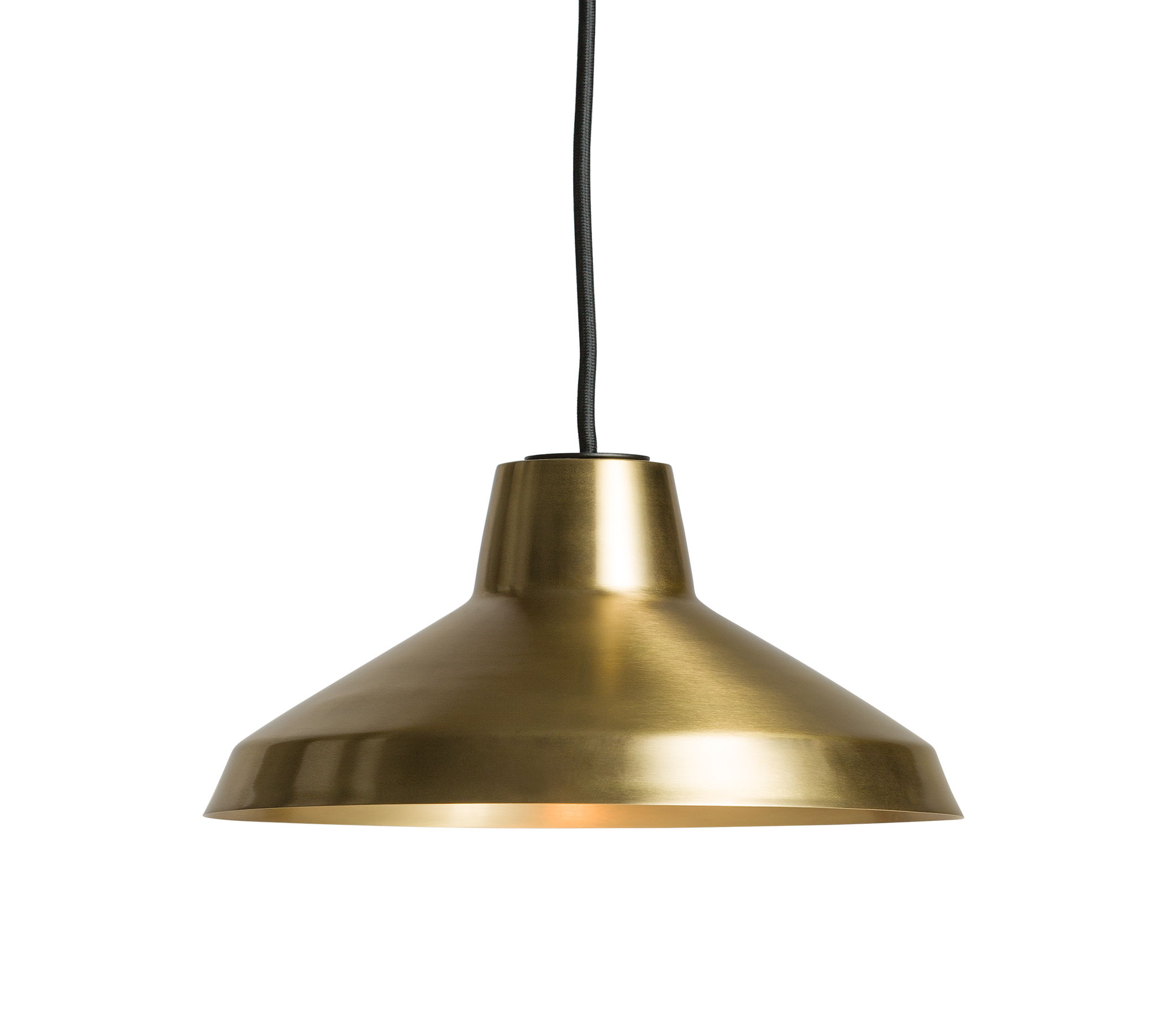 Lighting - Pendant Lighting - Evergreen Small Pendant - Ø 30 cm / Brass by Northern  - Brass - Brushed brass