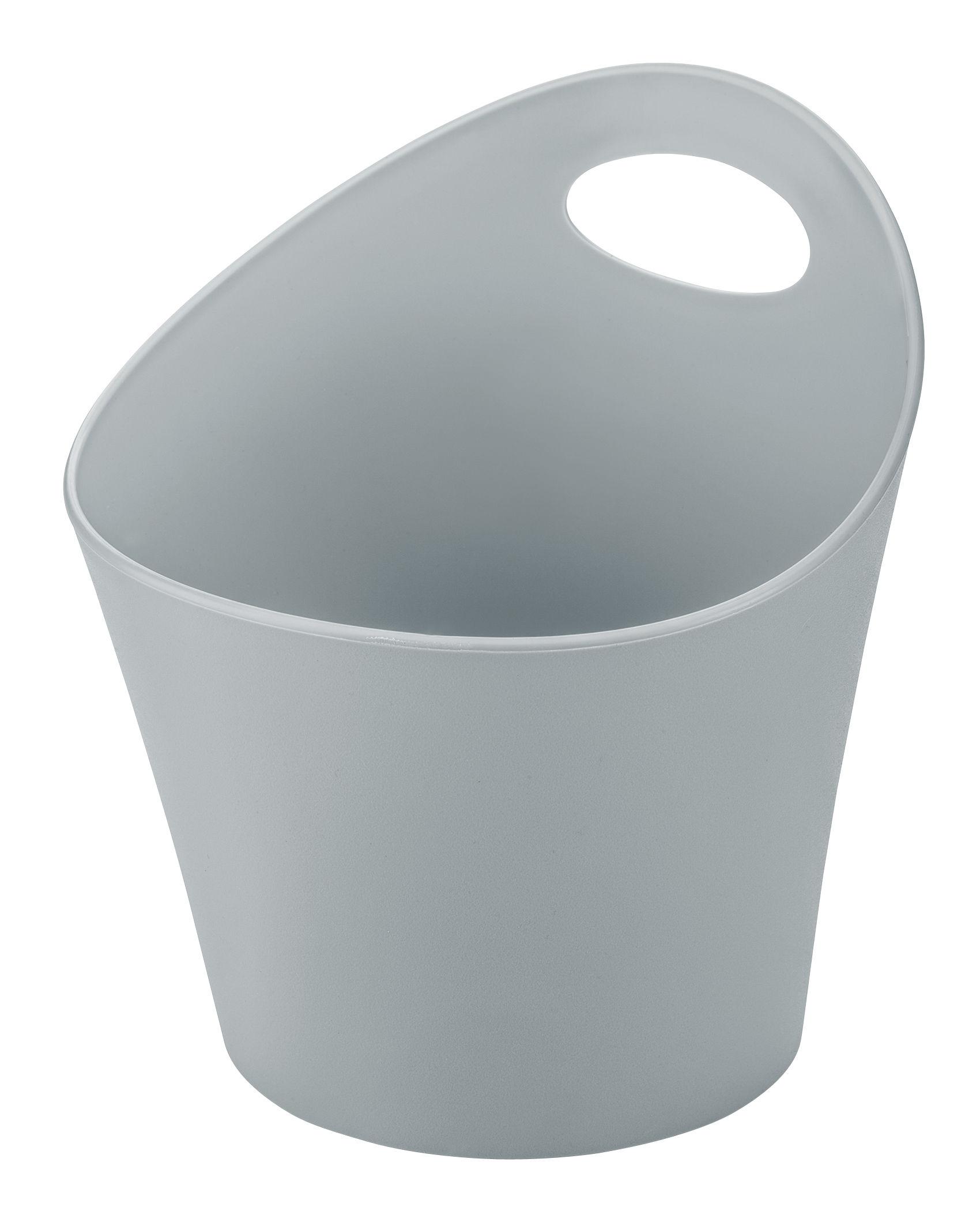 Outdoor - Pots et plantes - Pot Pottichelli M / Ø 17 x H 15 cm - Koziol - Gris clair - PMMA