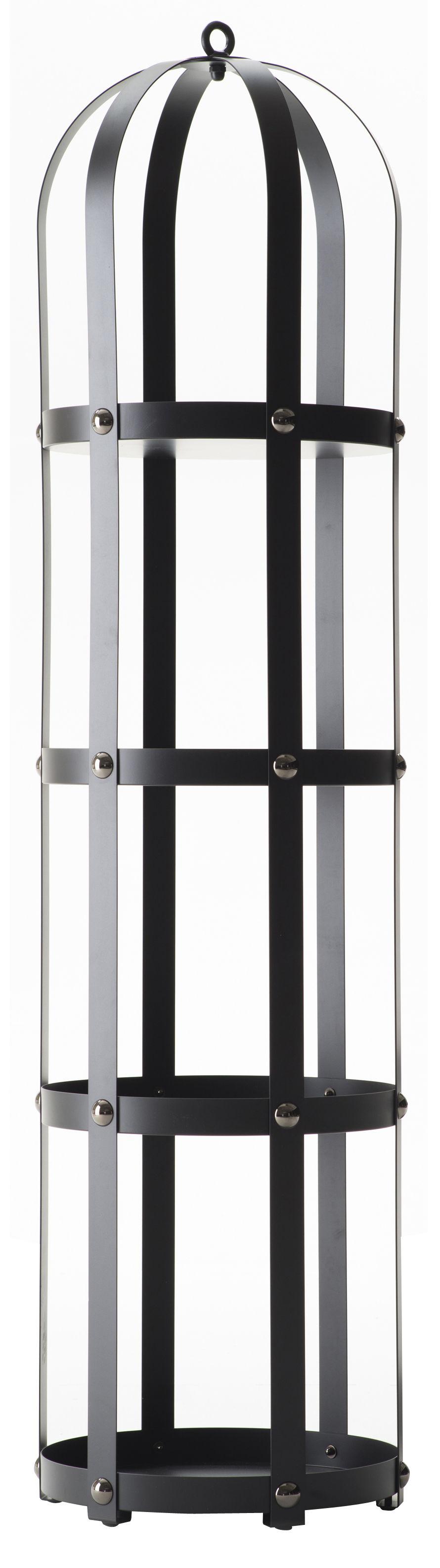 Arredamento - Scaffali e librerie - Scaffale La Gabbia - / Ø 40 x H 170 cm di Opinion Ciatti - Nero / Rivetti neri - Acciaio laccato, Nichel