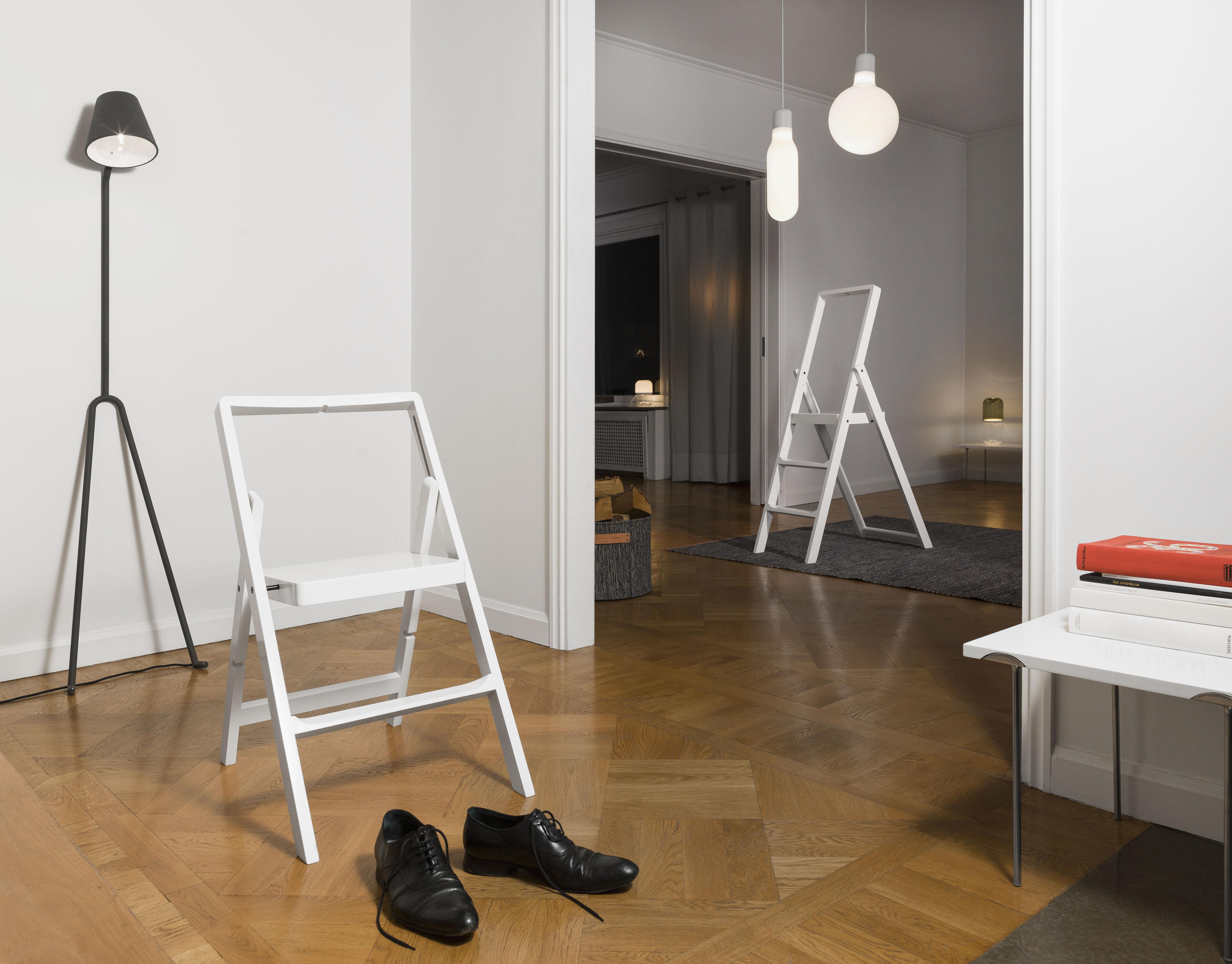 Scaletta In Legno Pieghevole : Scopri scala mini step h 45 cm sedia pieghevole bianco di