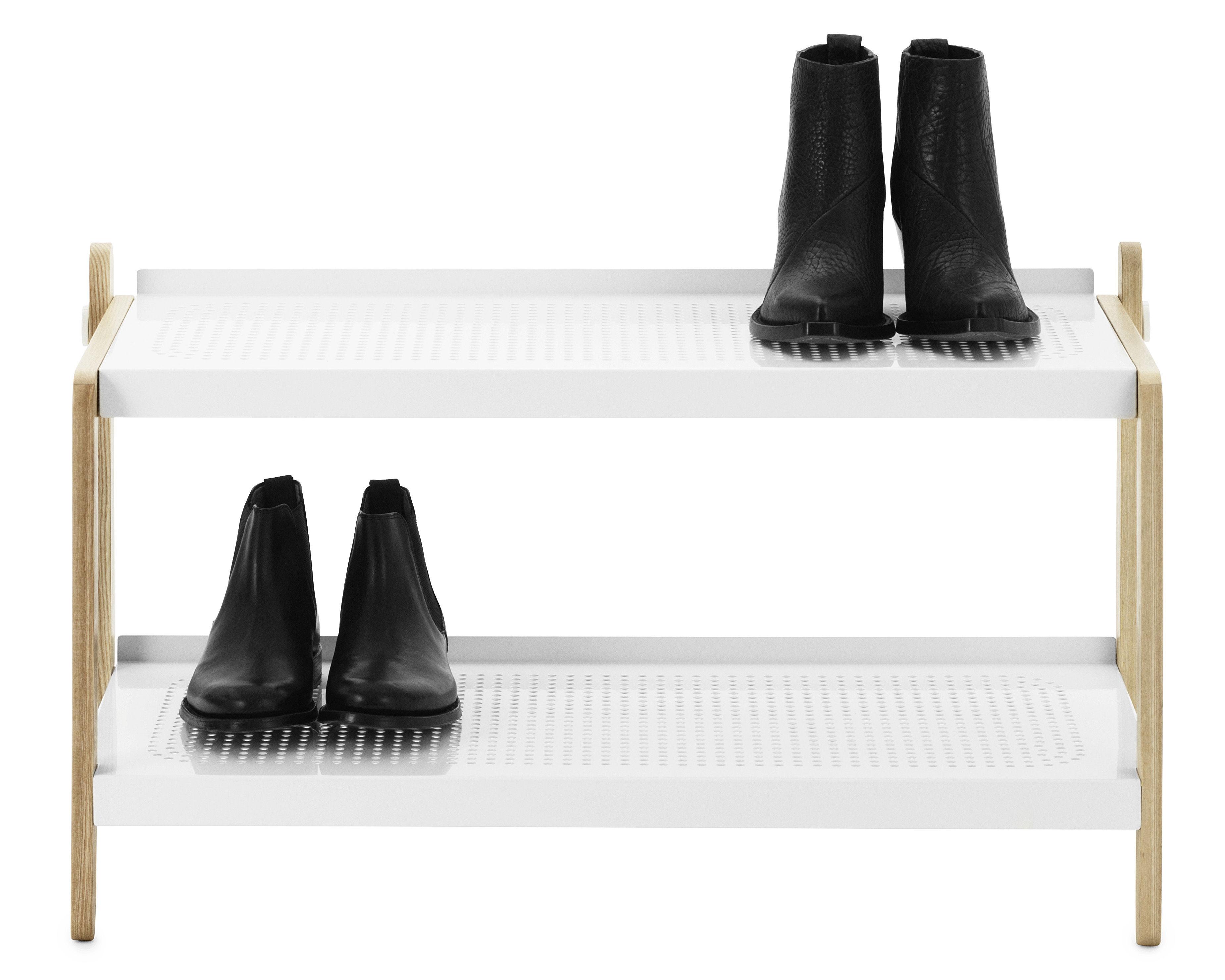 Möbel - Aufbewahrungsmöbel - Sko Schuhschrank - Normann Copenhagen - Weiß - bemalter Stahl, Esche