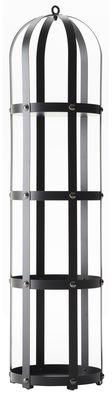 Furniture - Bookcases & Bookshelves - La Gabbia Shelf - / Ø 40 x H 170 cm by Opinion Ciatti - Black / Black nails - Lacquered steel, Nickel