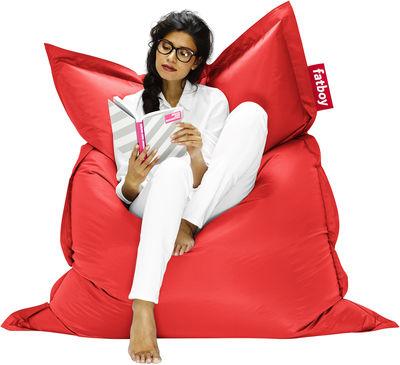 Möbel - Möbel für Teens - The Original Sitzkissen - Fatboy - Rot - Micro-billes de polystyrène, Nylon