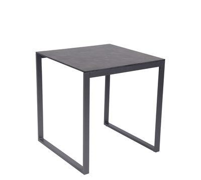 Perspective Square Table 70 X 70 Cm Concrete Effect By Vlaemynck