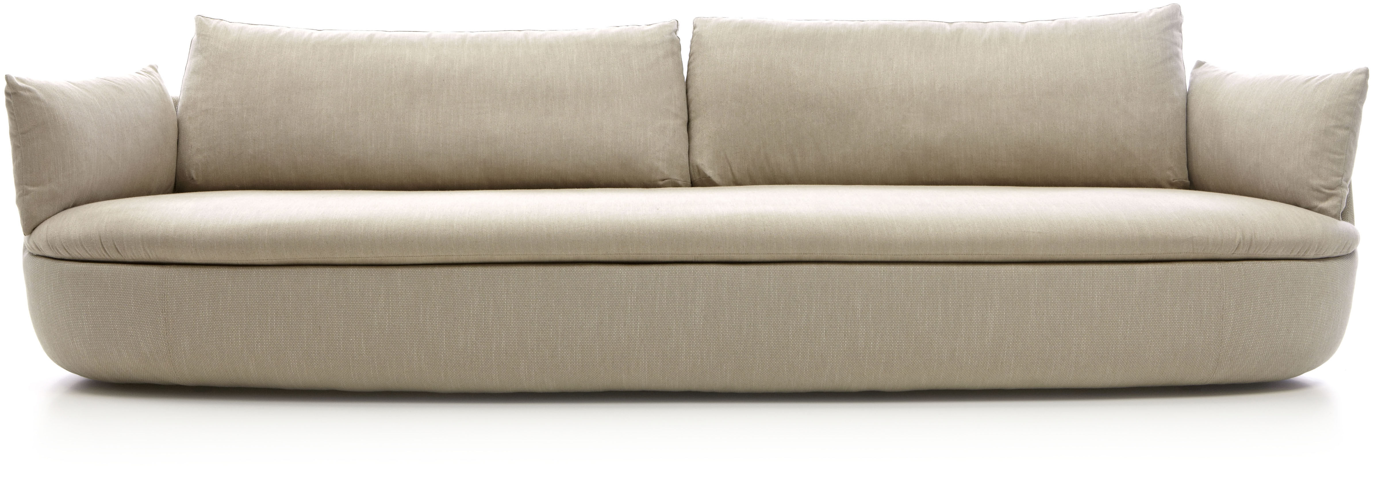 Furniture - Sofas - Bart XL Straight sofa by Moooi - Light brown - Fabric, Foam, Wood