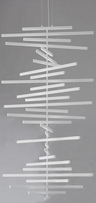 Suspension Rhythm LED / H 163 x L 87 cm - Vibia blanc en matière plastique