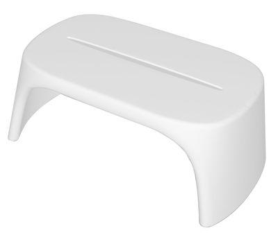 Table basse Amélie / Banc - L 108 cm - Plastique - Slide blanc en matière plastique