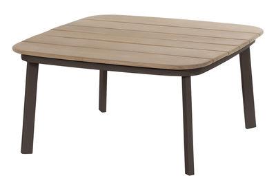 Table basse Shine / 79 x 79 cm - Emu teck,marron d'inde en bois