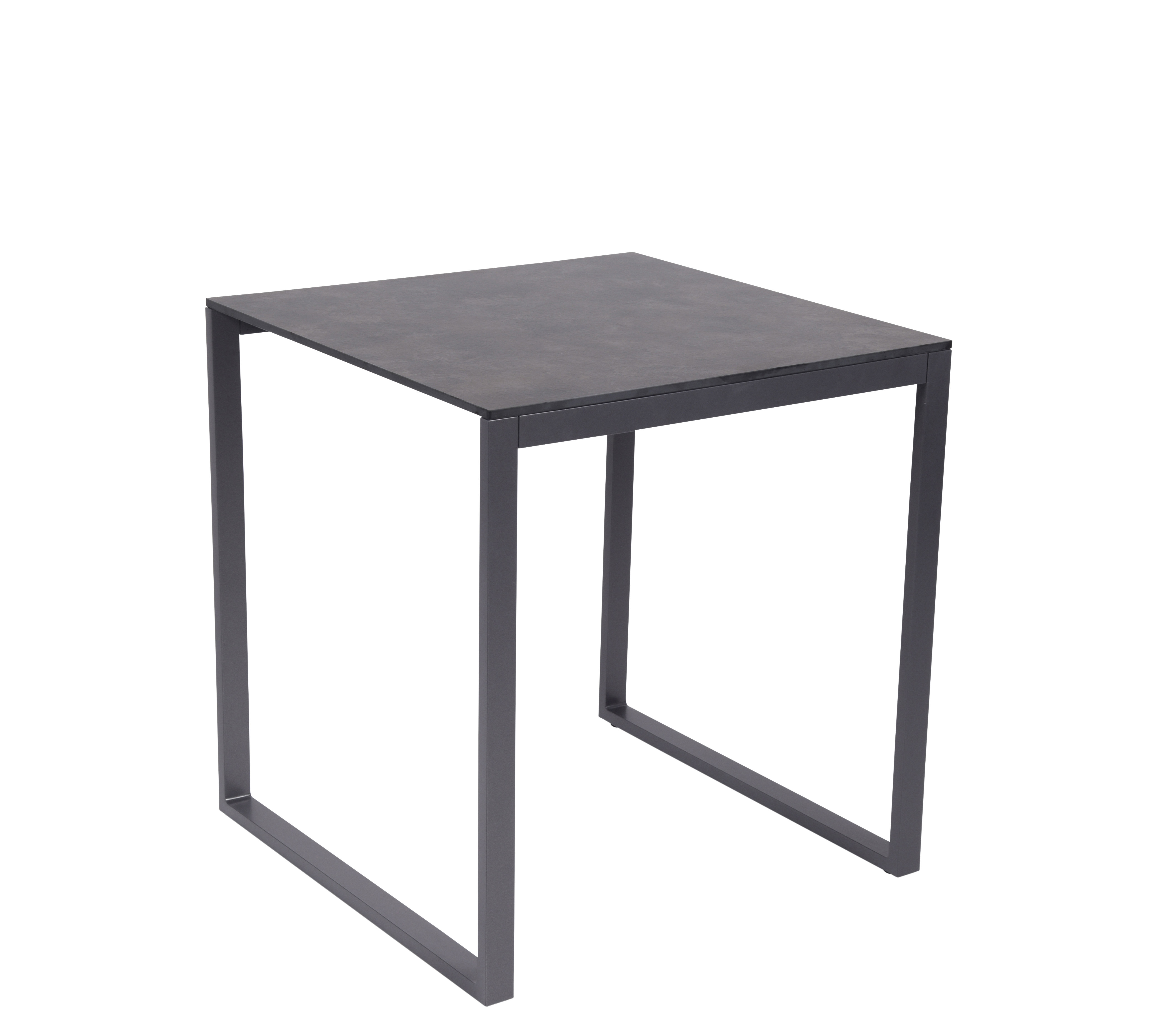 Outdoor - Tables de jardin - Table carrée Perspective / 70 x 70 cm - Effet béton - Vlaemynck - Béton gris / Blanc - Aluminium laqué, HPL effet béton