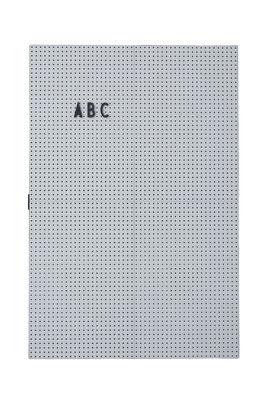Tableau memo A3 / L 30 x H 42 cm - Design Letters gris clair en matière plastique