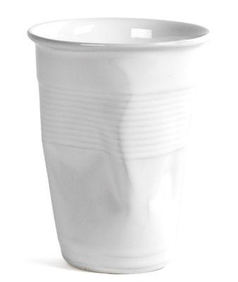 Tasse à café XL / H 10,5 cm - Rob Brandt - Pop Corn blanc en céramique