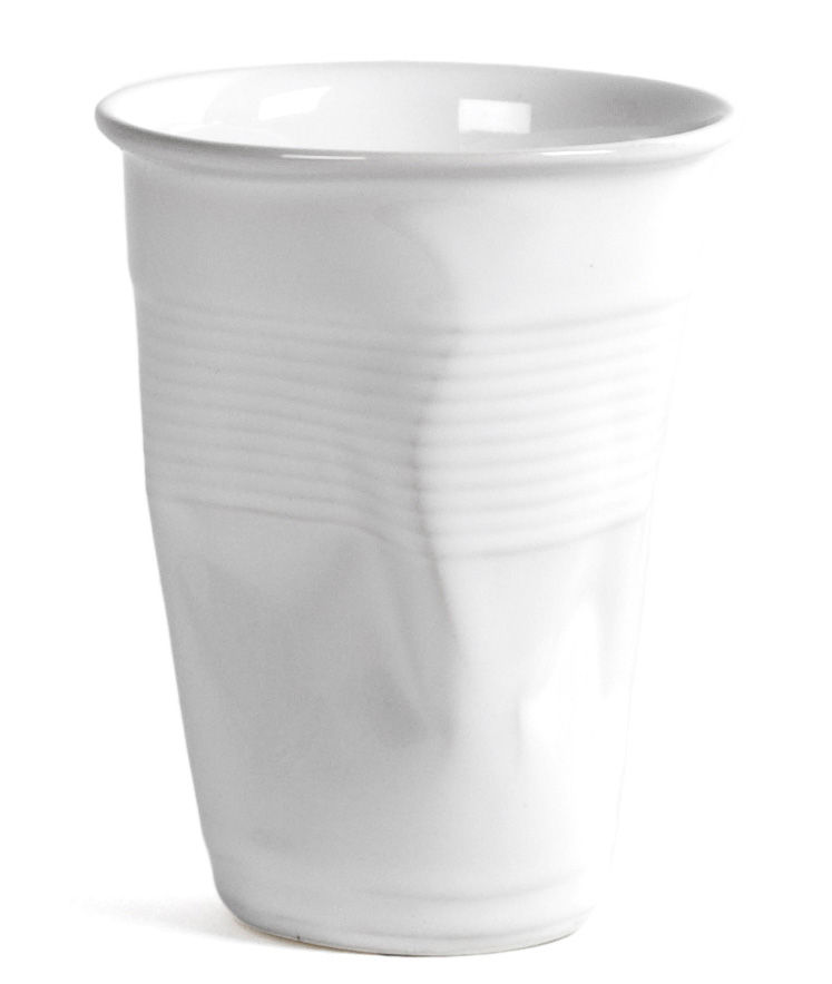 Cuisine - La cuisine s'amuse - Tasse à café XL / H 10,5 cm - Rob Brandt - Pop Corn - Blanc - Céramique