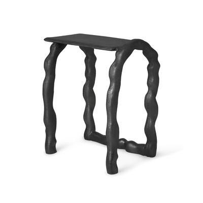 Arredamento - Tavolini  - Tavolino d'appoggio Rotben - / Sgabello - Fusione di alluminio riciclato di Ferm Living - Nero - Fonte d'aluminium recyclée