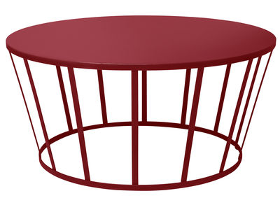 Tavolino Hollo / Ø 70 x H 33 cm - Petite Friture - Bordeaux - Metallo